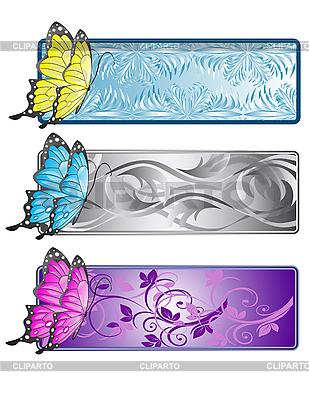 Muster mit Schmetterlinge | Stock Vektorgrafik |ID 3014101