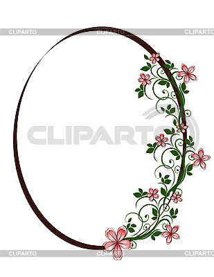 Floral oval frame | Stock Vector Graphics |ID 3014227