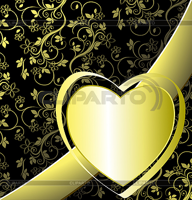 Floral Background with Heart   Stock Vector Graphics  ID 3014231
