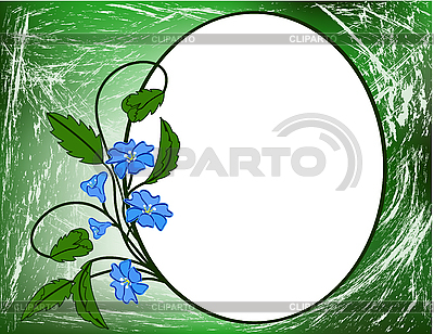 Blue floral pattern.  | Stock Vector Graphics |ID 3014257