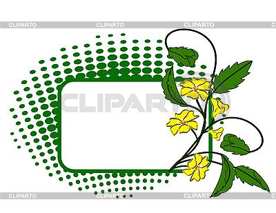 Зеленый флаг с желтым цветком