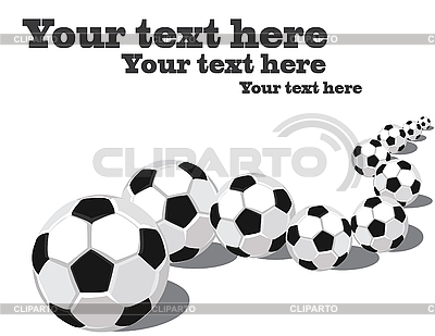 Soccer balls in row | High resolution stock illustration |ID 3014283