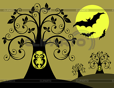 Night with an owl | Stock Vector Graphics |ID 3014325