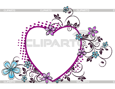 Floral pattern in the form of heart  | Stock Vector Graphics |ID 3014341