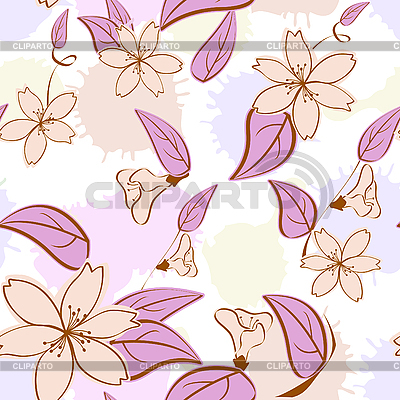 Seamless floral pattern in pastel colors | Stock Vector Graphics |ID 3014365