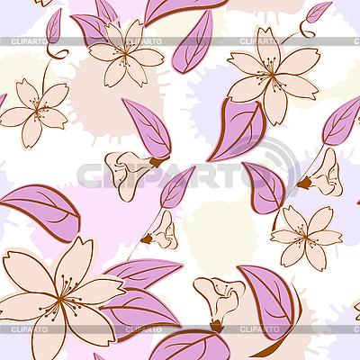 无缝的花卉图案在柔和的色彩 | 向量插图 |ID 3014365
