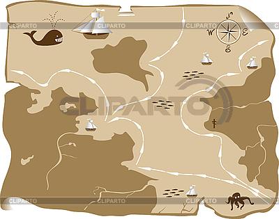 Старинная карта | Векторный клипарт |ID 3014378