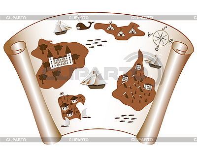 Old map of islands | Stock Vector Graphics |ID 3014382