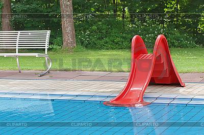 儿童游泳池用幻灯片 | 高分辨率照片 |ID 3014420