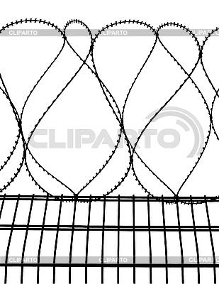 Ogrodzeniem z drutu kolczastego   Klipart wektorowy  ID 3014494