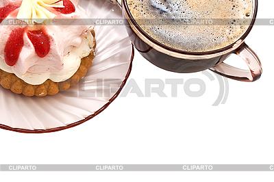 Filiżankę kawy i kawałek ciasta | Foto stockowe wysokiej rozdzielczości |ID 3014625