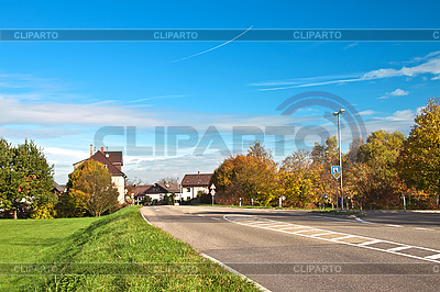 Residential in small town in Germany | High resolution stock photo |ID 3014632