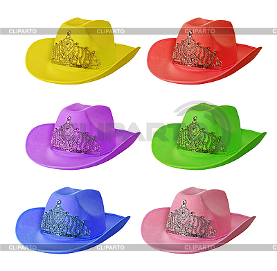 Set of multi-colored cowboy hats | High resolution stock photo |ID 3014664