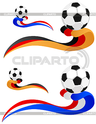 Football in the wake of the flag | Stock Vector Graphics |ID 3014685
