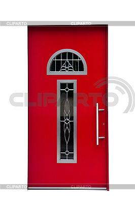 Red door isolated on white. | High resolution stock photo |ID 3018945