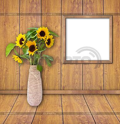 Drewniane ramki na obrócisz desek ściany   Foto stockowe wysokiej rozdzielczości  ID 3019070