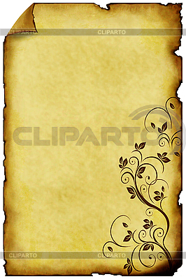 Old paper background with ornaments | High resolution stock illustration |ID 3019256