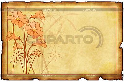 Alte Postkarte mit floralen Mustern | Illustration mit hoher Auflösung |ID 3019263