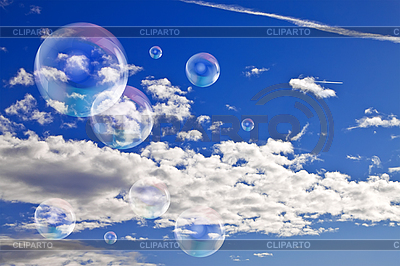 Soap bubbles in the sky   High resolution stock photo  ID 3025126