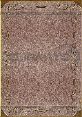 Ledertextur mit goldener Prägung | Foto mit hoher Auflösung |ID 3037777