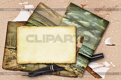 Abstract frame marine theme | Foto stockowe wysokiej rozdzielczości |ID 3050263