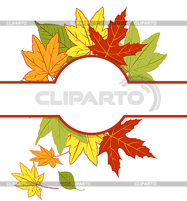 Karta z liści jesienią | Klipart wektorowy |ID 3059454
