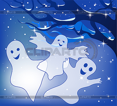 Three merry ghosts | Stock Vector Graphics |ID 3059490