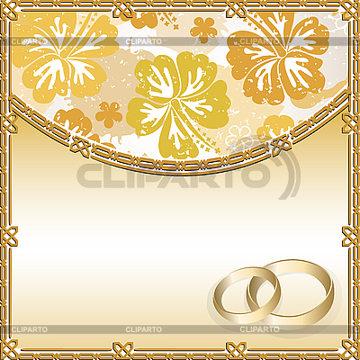 Wedding card with floral pattern and place for text | Stock Vector Graphics |ID 3059496