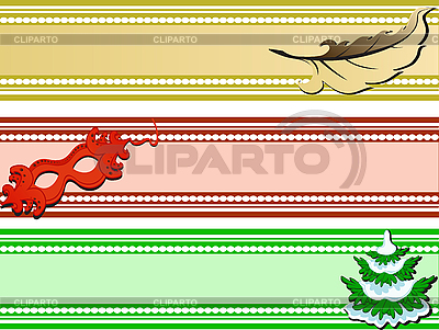 Set of holiday banners | Stock Vector Graphics |ID 3064276