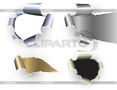 Torn zestaw papier | Klipart wektorowy |ID 3093419