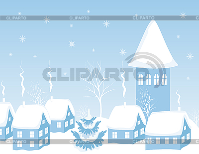 City at night in the snow | Stock Vector Graphics |ID 3093421