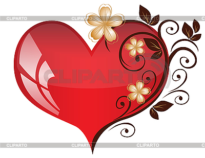 Heart with flower pattern | Stock Vector Graphics |ID 3128270