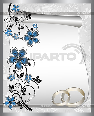 Wedding card with floral pattern | Stock Vector Graphics |ID 3237165