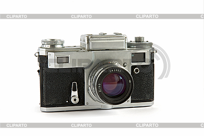 Old rangefinder camera isolated | High resolution stock photo |ID 3015229