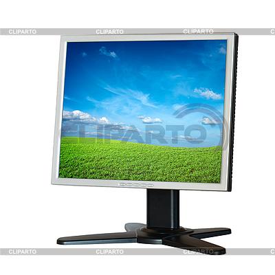 被隔绝在白色液晶显示器 | 高分辨率照片 |ID 3015257