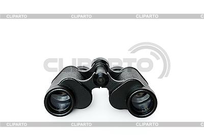 被隔绝在白色黑双筒望远镜 | 高分辨率照片 |ID 3015281