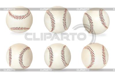 Zestaw Baseballs na białym | Foto stockowe wysokiej rozdzielczości |ID 3015283