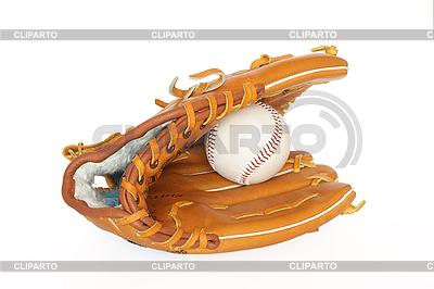 Бейсбольная рукавица с мячом | Фото большого размера |ID 3015287