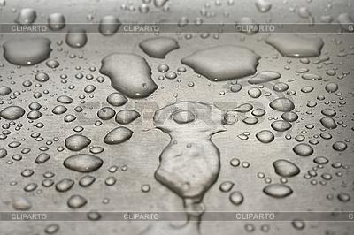 Kropelki wody na metalu | Foto stockowe wysokiej rozdzielczości |ID 3015359