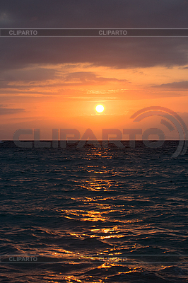 Calm ocean on tropical sunset | High resolution stock photo |ID 3015381