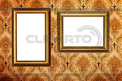 Empty picture frames on wall   High resolution stock photo  ID 3015443