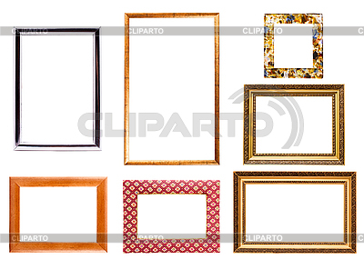 Collection of isolated picture frames | High resolution stock photo |ID 3015445