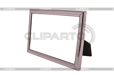 Empty metal photo frame isolated | High resolution stock photo |ID 3015453