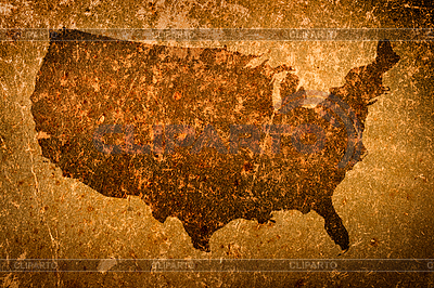 Stare grunge mapa Stanów Zjednoczonych Ameryki | Stockowa ilustracja wysokiej rozdzielczości |ID 3015501