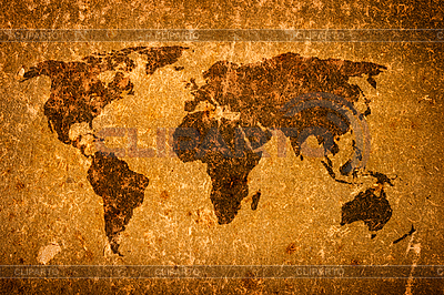 Old grunge world map | High resolution stock photo |ID 3015502