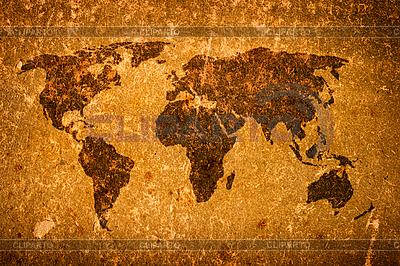 오래 된 그런 지 세계지도 | 높은 해상도 사진 |ID 3015502