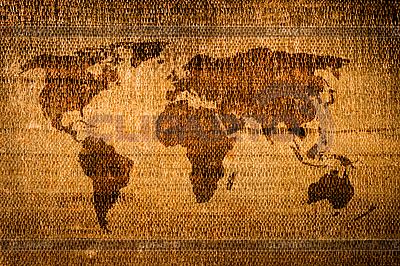Старая гранж-карта мира | Иллюстрация большого размера |ID 3015503
