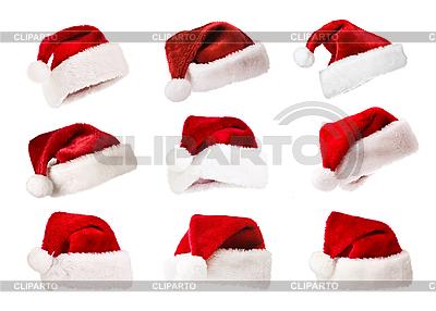 Rote Weihnachtshüte | Foto mit hoher Auflösung |ID 3015509