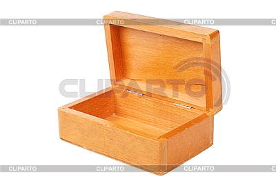 Pusty otwarte drewniane pudełko | Foto stockowe wysokiej rozdzielczości |ID 3015584