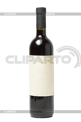Butelka wina samodzielnie | Foto stockowe wysokiej rozdzielczości |ID 3015592